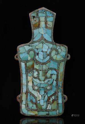 二里头文化 嵌松石兽面纹铜牌饰