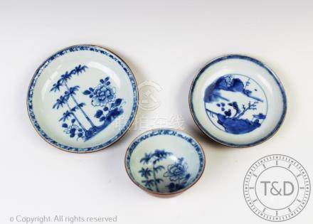 A Nanking Cargo Chinese porcelain batavian tea bowl and saucer,