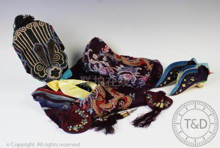 A collection of Chinese textiles and accessories,