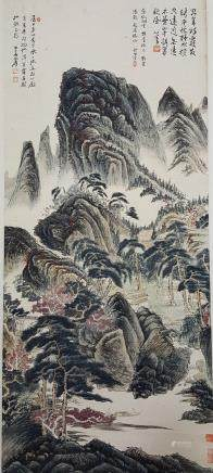 Chinese Scroll Painting,Zhang Daqian(1899-1983)