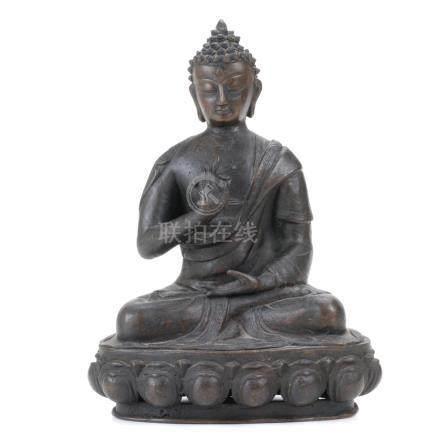 BURMESE SEATING BUDDHA, 19TH CENTURY
