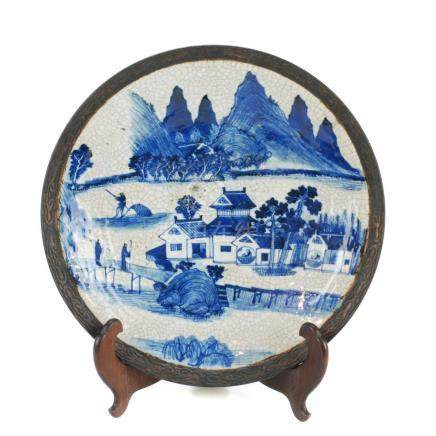 CHINESE PORCELAIN PLATE, 19TH CENTURY