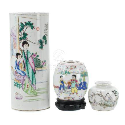 LOT OF 3 CHINESE PORCELAIN PIECES, 20TH CENTURY