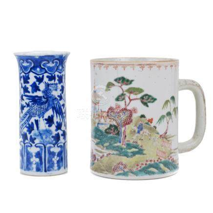 LOT OF 2 CHINESE PORCELAIN PIECES, 18TH - 19TH CENTURY