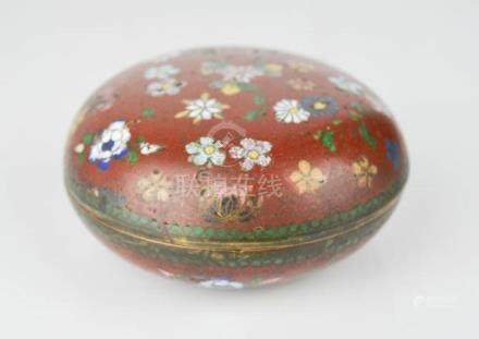 A Chinese cloisonne box.