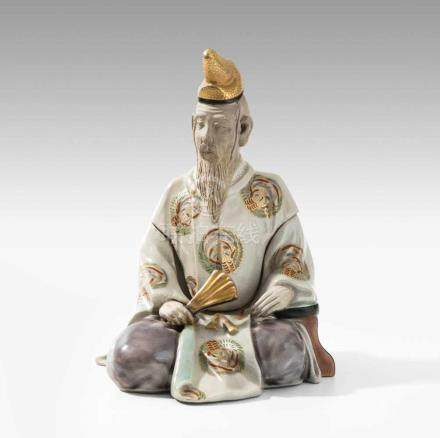 KoroJapan, Meiji-Zeit. Kyoto-Satsuma Keramik mit Goldstaffierung. Miyagawa (Makuzu) Kozan Studio.