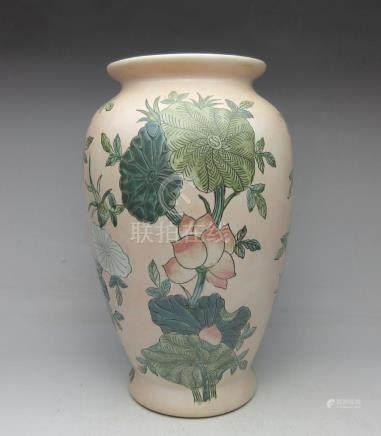 Lotus pink vase