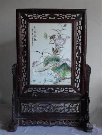 Lotus Table porcelain plaque