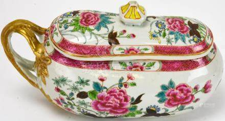 Chinese Famille Rose Porcelain Ladies Chamber Pot