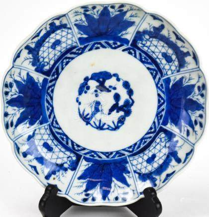 Chinese Blue & White Porcelain Plate - Signed