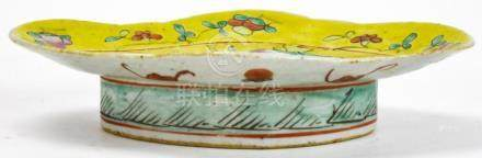 Chinese Porcelain Famille Rose Footed Compote