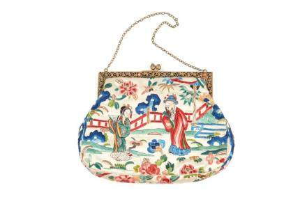 CHINESE SILK EMBROIDERED PURSE