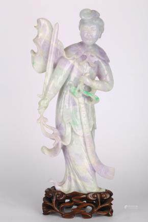CHINESE JADEITE CARVED LADY