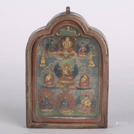 CHINESE TIBETAN THANGKA GAU BOX