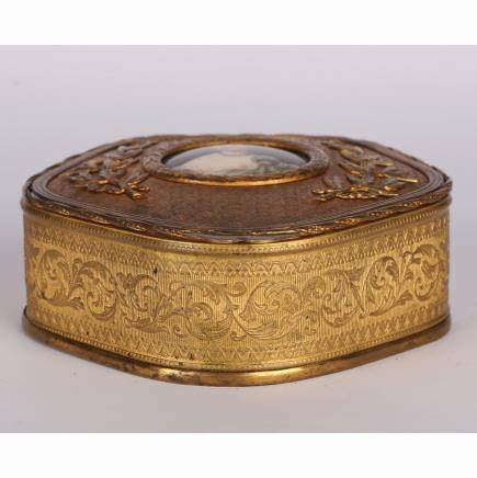 CHINESE GILT BRONZE JEWELRY BOX