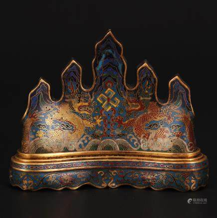 CHINESE CLOISONNE BRUSH REST