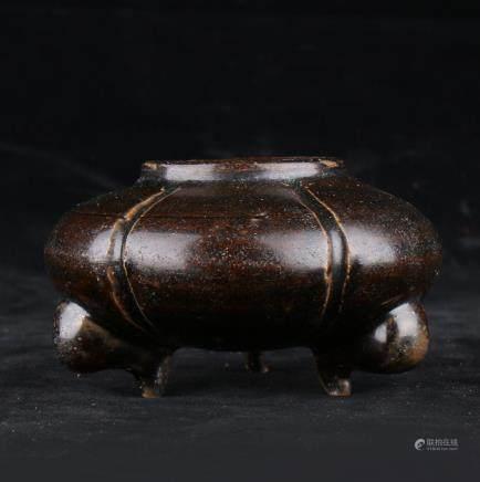 Porcelain Tripod Water Pot