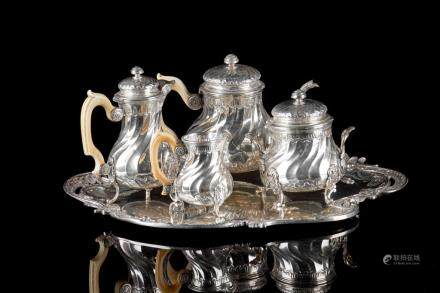 FRENCH SILVER TETE-A-TETE TEA SERVICE