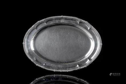 PAUL STORR GEORGE II ENGLISH SILVER PLATTER