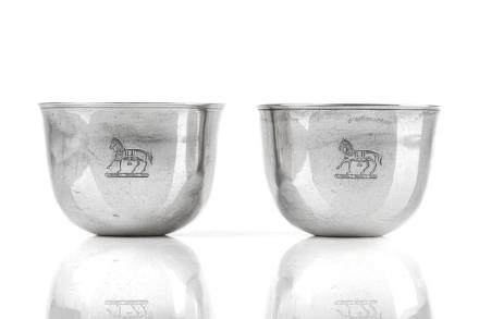 PAIR OF GEORGE III SILVER TUMBLERS