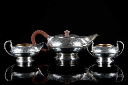 ENGLISH THREE PIECE SILVER TEA SERVICE