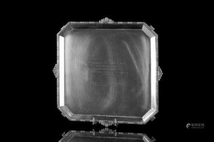 ENGLISH ART DECO SILVER PRESENTATION TRAY