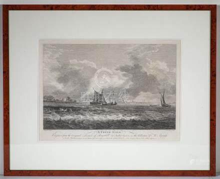 Les pêcheurs HollandaisGravure à l'eau forte par François VIVARES (1709-1780)D'