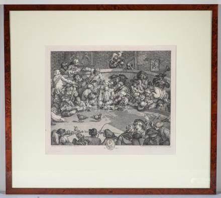 The PitTicket (CockPitou Combat de coq)Dessinateur William HOGARTH (1697 –1764)