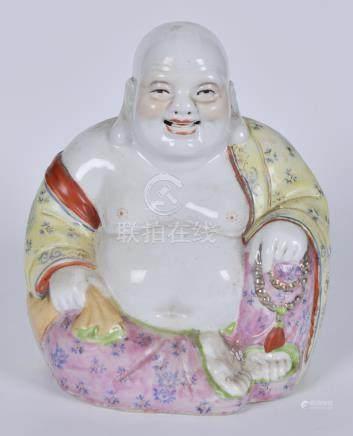 50年代 粉彩弥勒佛瓷塑