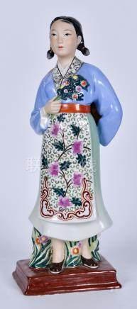 50-60年代 庆丰收粉彩瓷塑
