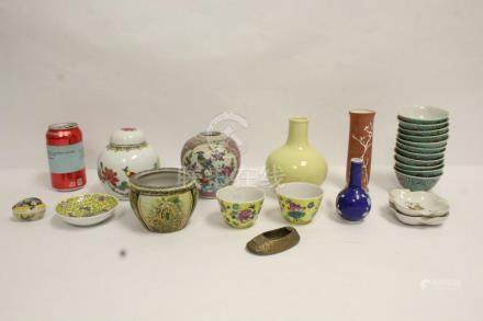 Lot of vintage Chinese porcelain pieces