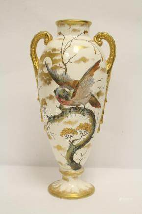 A beautiful European hand painted vase