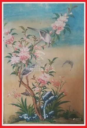 FLEURS ET OISEAUX / NIAO HUA - AQUARELLE ET GOUACHE SUR PAPIER Chine, Dynastie