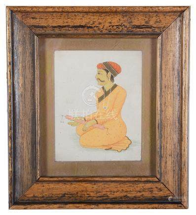 Indo-Persian School (19th century): Study of a seated gentleman, gouache,