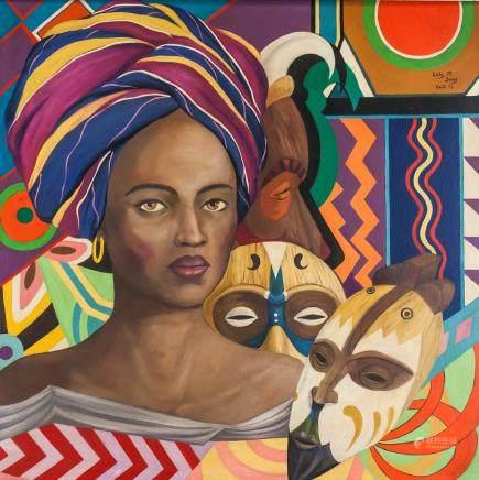 Lois Mailou Jones Harlem Renaissance Oil on Canvas