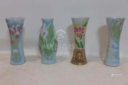 Four Chinese porcelain vases, tallest H.38cm