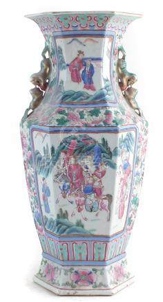 19th century Chinese canton vase.