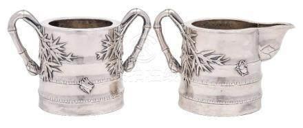 An early 20th century Chinese silver cream jug, maker Wang Hing & Co.