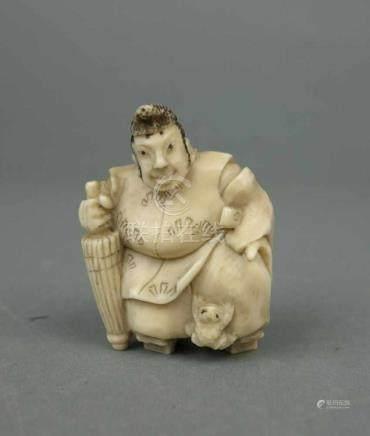 """NETSUKE, Elfenbein, Japan, Meiji-Periode (1868-1912) kunstvoll und detailreich geschnitzter """""""