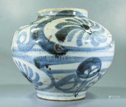 CHINESE SONG DYNASTY FLORAL JAR