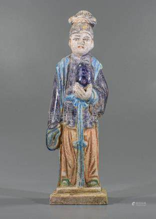 CHINESE MING DYNASTY ATTENDANT FIGURINE