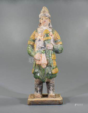 CHINESE MING DYNASTY SOLDIER FIGURINE