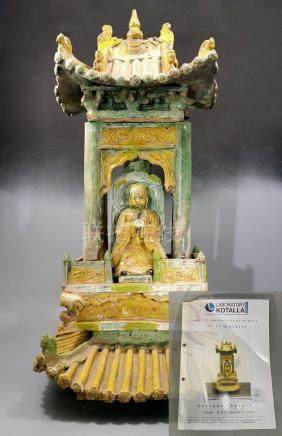 EXTREMELLY RARE LARGE INSCRIBED MING SHRINE – TL TESTED