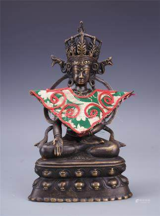 NAPELESE BRONZE SEATED BUDDHA
