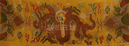 CHINESE EMBROIDERY KESI DRAGON TAPESTRY