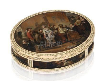A LOUIS XVI VARI-COLOUR GOLD-MOUNTED BOÎTE-À-MINIATURES