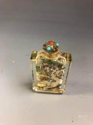 Chinese Peking Glass Inner Painted Snuff Bottle