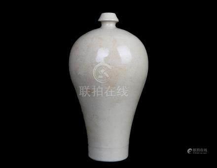 China,Mei Ping White Glaze Vase