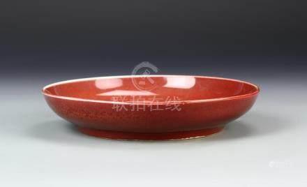 Chinese Oxblood Glazed Plate
