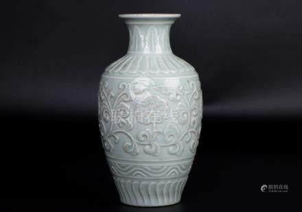 China, Dou Qing  Lotus Vase